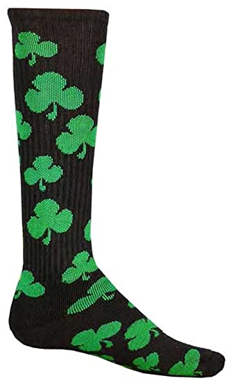 0c95f9f5c Image Unavailable. Image not available for. Color  Red Lion Shamrock  Athletic Socks ( Black   Kelly Green ...