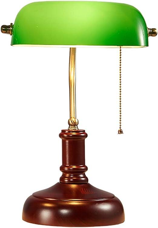 Lámpara de Escritorio de Retro Banker/Lámpara de Mesa Antigua ...