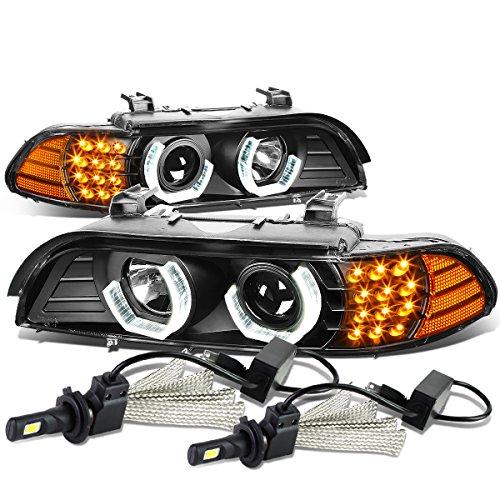 bmw 528i black headlights - 7