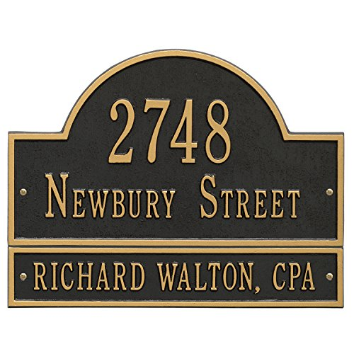 Customized Arch Marker Address Plaque WITH EXTENSION 3 Lines 16