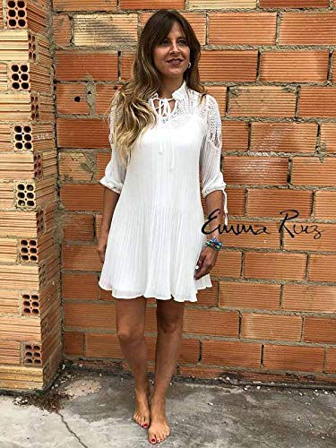 Highly Preppy - VESTIDO PLISADO CRUDO - H.PREPPY - 7571 - XS, Beige: Amazon.es: Ropa y accesorios