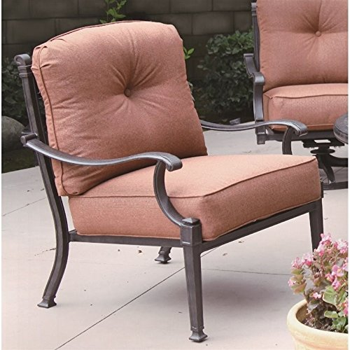 Darlee Charleston Outdoor Club Chair in Antique Bronze (Set of 2) -
