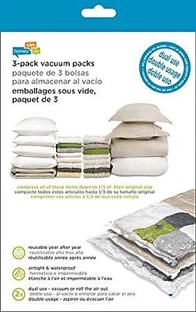 3-Pack Honey-Can-Do VAC-01379 VAC-01379 Super Storage Combo Vacuum Packs