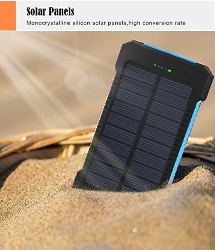 20000mAh Solar Power Bank Dual USB powerbank Waterproof Battery External Portable Charging with LED Light 2USB poverbank