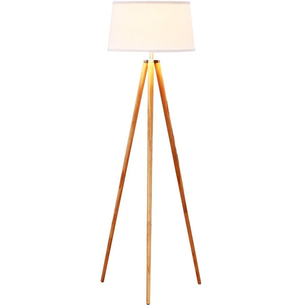 Amazon white floor lamps lamps shades tools - Brightech Emma Tripod Floor Lamp Classic Design For Contemporary Or Traditional Living Rooms Soft Ambient Lighting White Shade Amazon Com