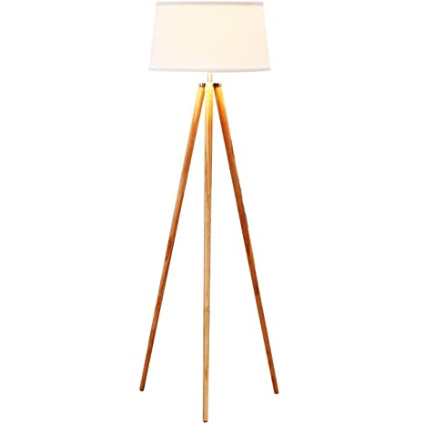 Brightech   Emma LED Tripod Floor Lamp   Classic Design For Contemporary Or  Traditional Living Rooms