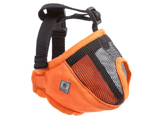 Canine Friendly Short Snout Dog Muzzle, Medium, Orange
