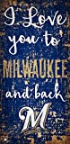 Fan Creations MLB Milwaukee Brewers I Love You to Signmilwaukee Brewers I Love You to Sign, Team, One Sizes