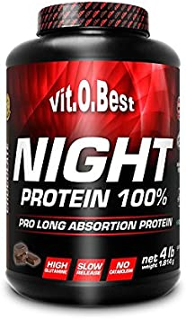 Vitobest Night Protein 100%, Aroma de Chocolate - 1814 gr