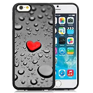 New Beautiful Custom Designed Cover Case For iPhone 6 4.7 Inch TPU With Red Drop Heart Phone Case WANGJIANG LIMING