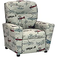 Kidz World Vintage Air Pewter Kids Recliner