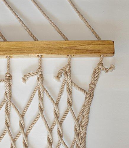 Bliss Hammocks BH-411NT Classic Rope Hammock with Spreader Bar, Natural