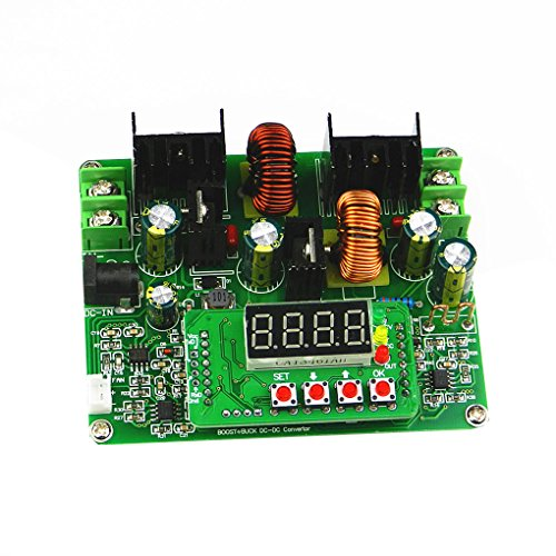 Topker us 38V 6A DC-DC Digital Boost Buck Step-up Step-down Module Solar ()