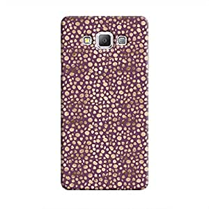 Cover It Up - Brown Purple Pebbles Mosaic Galaxy A8 Hard Case