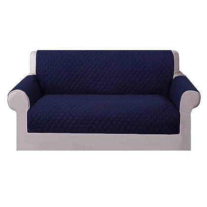 Umiwe Funda Sofa 3 Plazas Cubre Sofas 2 Plazas Funda Sillon Sofa Saver elasticas para Perro en Negro Borgona Marron Azul (2 plazas, Azul 1)