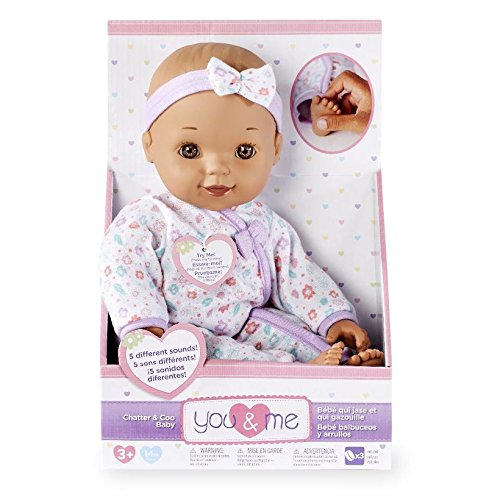 You/&Me 14-inch Chatter /& Coo Baby Doll Brunette with Brown Eyes Mattel