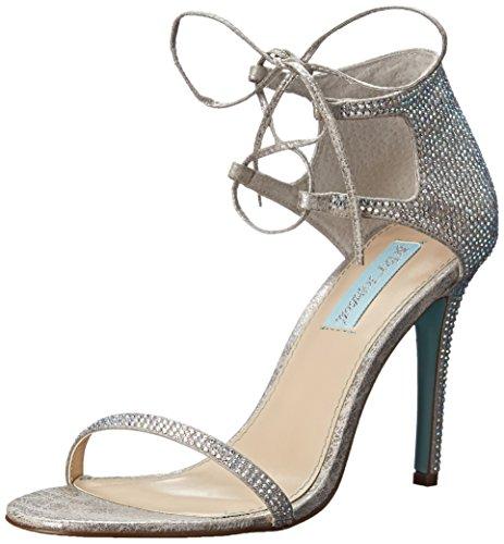 Blu By Betsey Johnson Womens Sb-gabi Vestito Sandalo Argento
