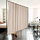 #10: PROMO ONXO Room Divider Curtain Total Privacy Office Divider Multifunctional Curtain - Stands Not Included (H9'xL10', Beige)