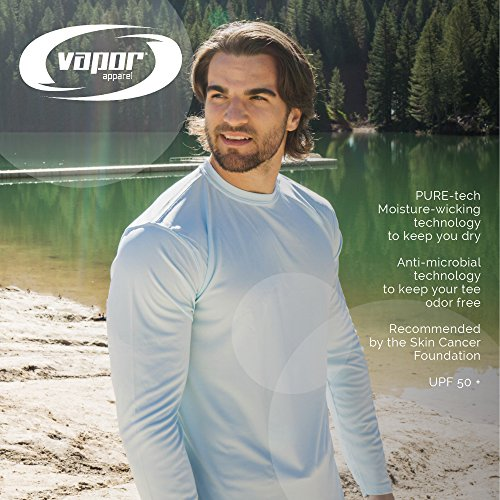 70e0fb84 Vapor Apparel Men's UPF 50+ UV Sun Protection Performance Long Sleeve T- Shirt