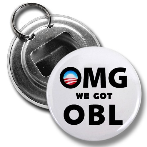 OMG We Got OBL President Obama Gets Osama Bin Laden 2.25 inch Button Style Bottle ()