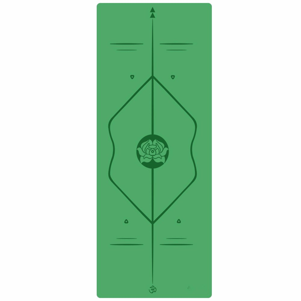 SJQKA-Professional Yoga Mat, Natural Rubber Anti-Skid Yoga Mat, Widening Thickening Men And Women Fitness Pad,Green