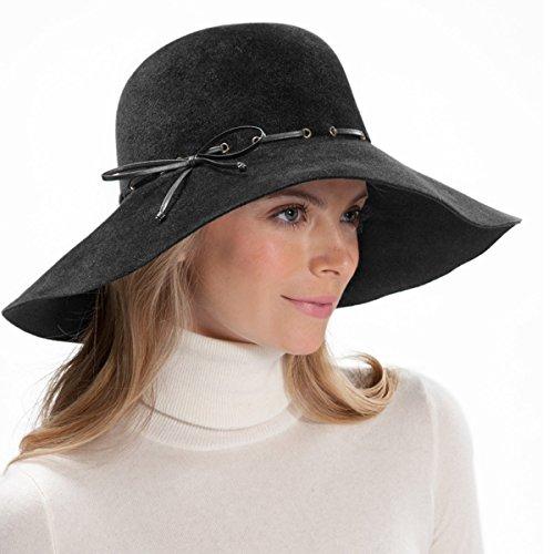 Eric Javits Luxury Fashion Designer Women's Headwear Hat - Victoria - Black by Eric Javits