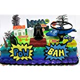 Amazoncom Batman Cake Cupcake Toppers Party Supplies Toys