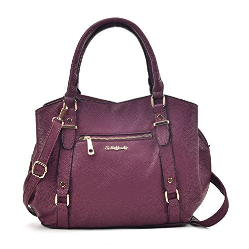 Nice Sally Handbag Purplish Zip Bag Fashion Women Tote Red Young Front Ow0Opr