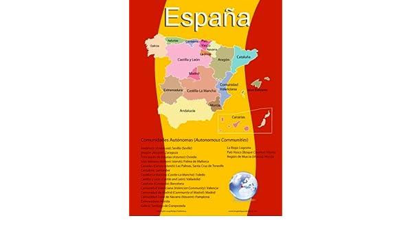 Lengua española escolar - Póster Mapa de España con sus 17 ...
