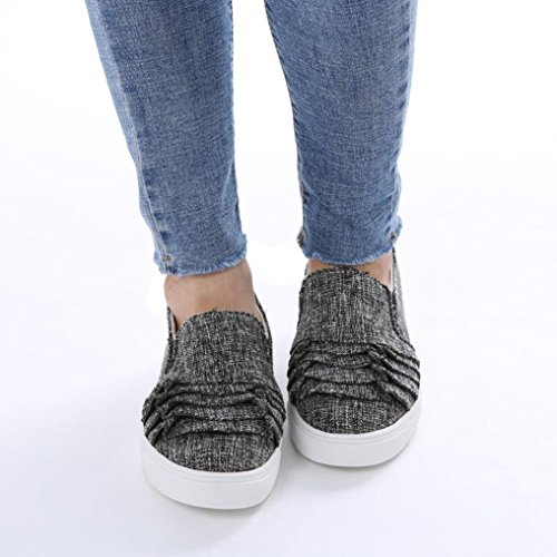 Weibliche Schuhe Schuhe Wildleder Schuhe Große Dunkelgrau Schuhe Spitze Einzelne Elegante Kopf Flache Freizeitschuhe Damenschuhe Runde friendGG Schuhe Schuhe Schuhe Schuhe Schuhe 0q8Ha