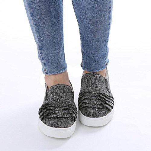 Kopf Damenschuhe Dunkelgrau Schuhe Einzelne Schuhe Schuhe Schuhe Schuhe Freizeitschuhe Schuhe Schuhe Schuhe Spitze Weibliche friendGG Große Runde Wildleder Flache Elegante Schuhe 5Iq7xwnIRp