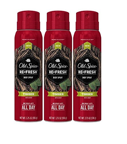 Old Spice Re Fresh Body Spray - Fresher Collection - Timber - Net Wt. 3.75 OZ (106 g) Each - Pack of 3 (Old Spice Refresh compare prices)