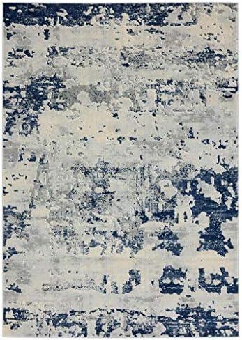 Luxe Weavers New Castle Blue 8×10 Modern Area Rug