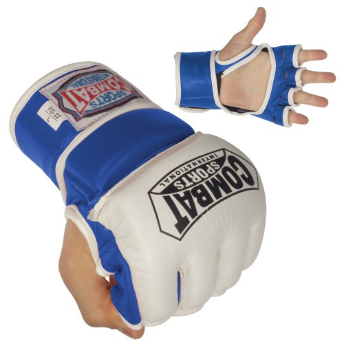 Combat Sports 8-Ounce Amateur Fight Gloves (Blue, Regular)
