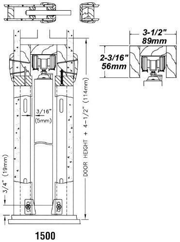1500 Commercial Grade Pocket Door Frame (32'' x 80'') by Johnson Hardware (Image #6)