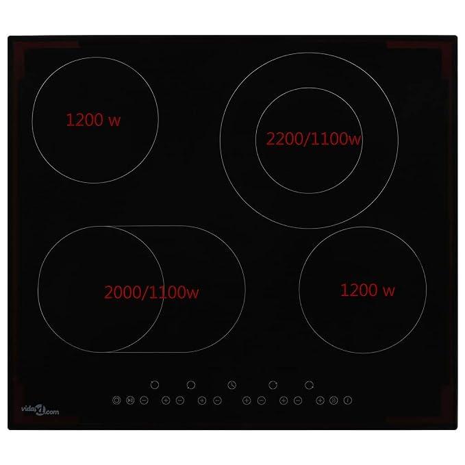 FESTNIGHT Placa de Cocina con 4 Placas de Cocción Placa ...