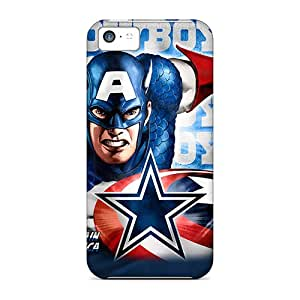 Awesome Dallas Cowboys Flip Case With Fashion Design For Iphone 5c