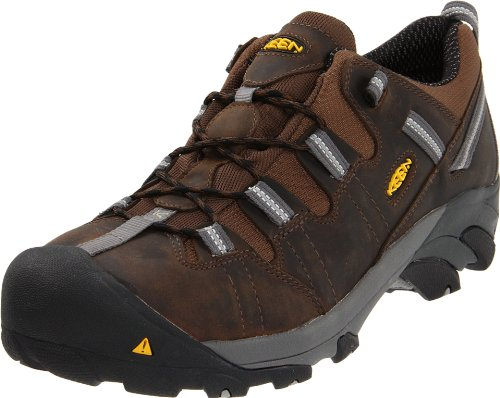 KEEN Utility Men's Detroit Low ESD Steel Toe Work Boot,Dark Brown,10.5 D US