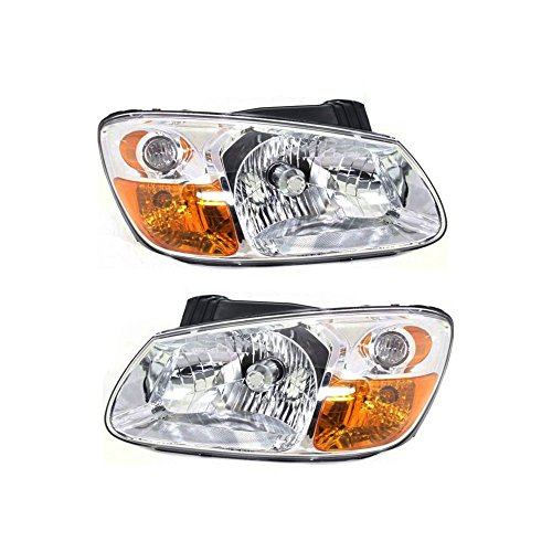 - Headlight Set of 2 for 2007-2009 Kia Spectra Right and Left Side Assembly Halogen Sedan Body Style