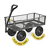 Gorilla Carts 6 Cu. Steel Utility Cart with No-Flat