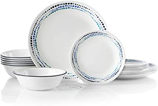 product image for Corelle 18-Piece Service for 6, Chip Resistant, Ocean Blues Dinnerware Set