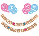 Sterling James Co. Gender Reveal Party Pack - Baby Shower Decorations - Pregnancy Announcement