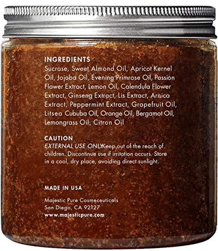 Brown Sugar Body Scrub for Cellulite and Exfoliation – Natural Body Scrub – Reduces The Appearances of Cellulite…