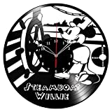 Mickey Mouse The Walt Disney Vinyl Record Wall Clock Fan Art Handmade Decor Unique Decorative Vinyl Clock 12″ (30 cm) #1 Review