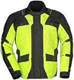 Tourmaster Transition Series 4 Men's Textile Motorcycle Touring Jacket (Hi-Viz/Black, Small)