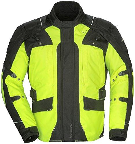 Tourmaster Transition Series 4 Women's Textile Motorcycle Touring Jacket (Hi-Viz/Black, X-Large) (Womens Jacket Touring)