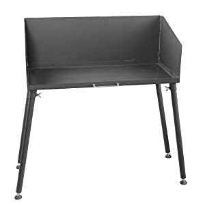 Stanbroil 30 Inch Camp Cooking Table with Legs Fits 2 Camp Dutch Ovens, Black