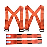 Magic Show Lifting and Moving Straps, 2-Person Lifting and Moving System - Forearm Forklift Lifting Straps Furniture Moving Belt for Lifting Bulky Items