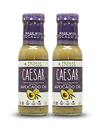 Primal Kitchen - Caesar, Avocado Oil-Based Dressing and Marinade, Whole30 and Paleo Approved, 2 Count (Best Bottled Greek Dressing)