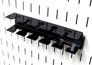 product image for Wall Control ASM-SL-008 B Pegboard Slotted Tool Holder Bracket Slotted Metal Accessory for Wall Control Pegboard Only, Black